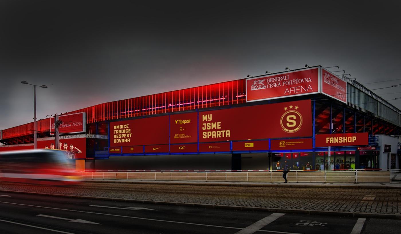 Stadion AC Sparta Praha nová identita | SportBiz.cz